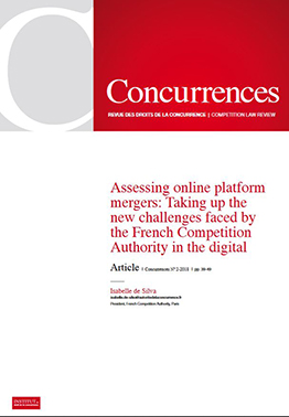 Couvertur de l'article -  Assessing online Platform mergers: Taking up the new challenges faced by the French Competition Authority in the digital